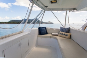 Pillows on the boat